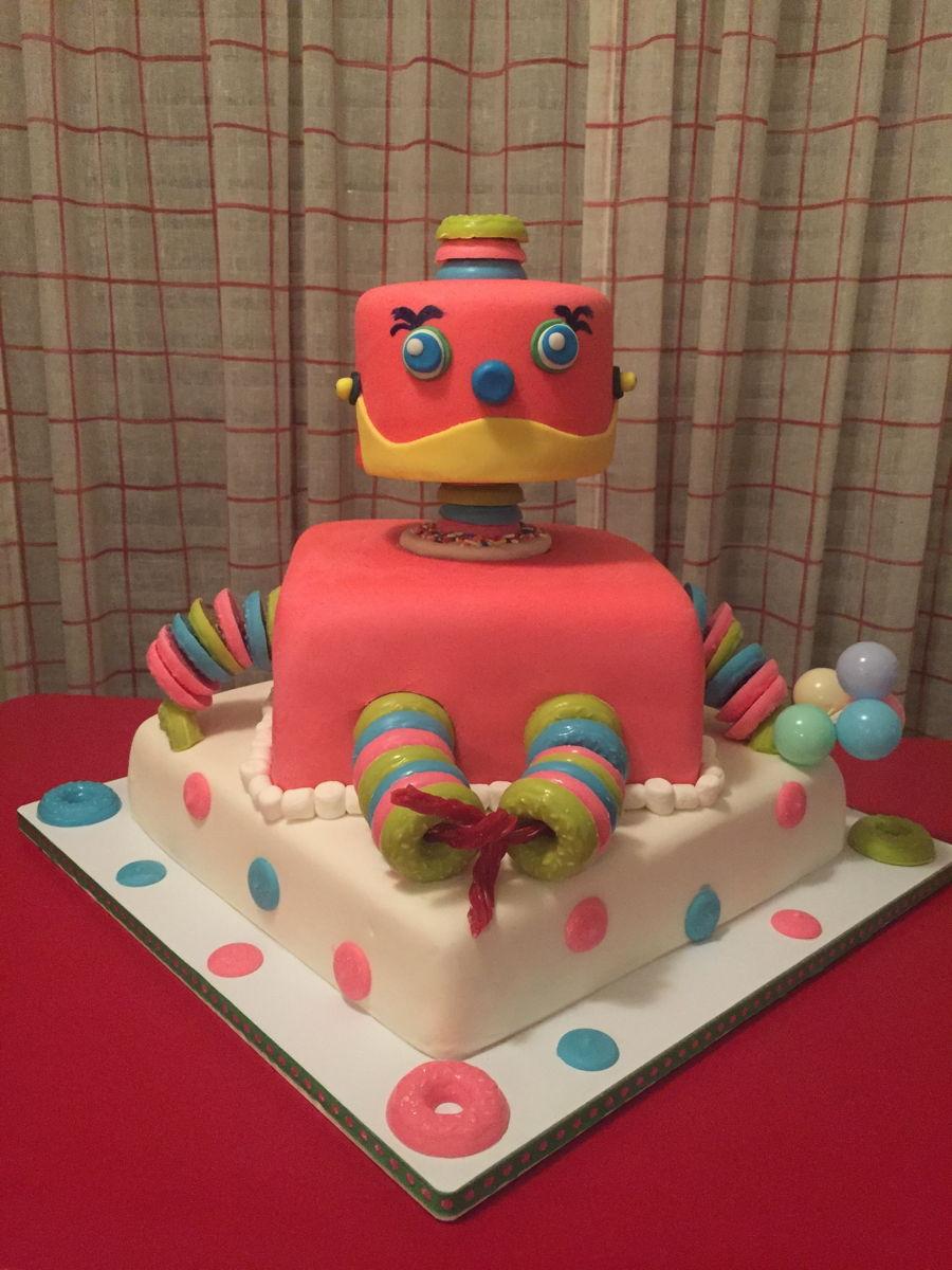 Terrific Robot Birthday Cakecentral Com Personalised Birthday Cards Epsylily Jamesorg