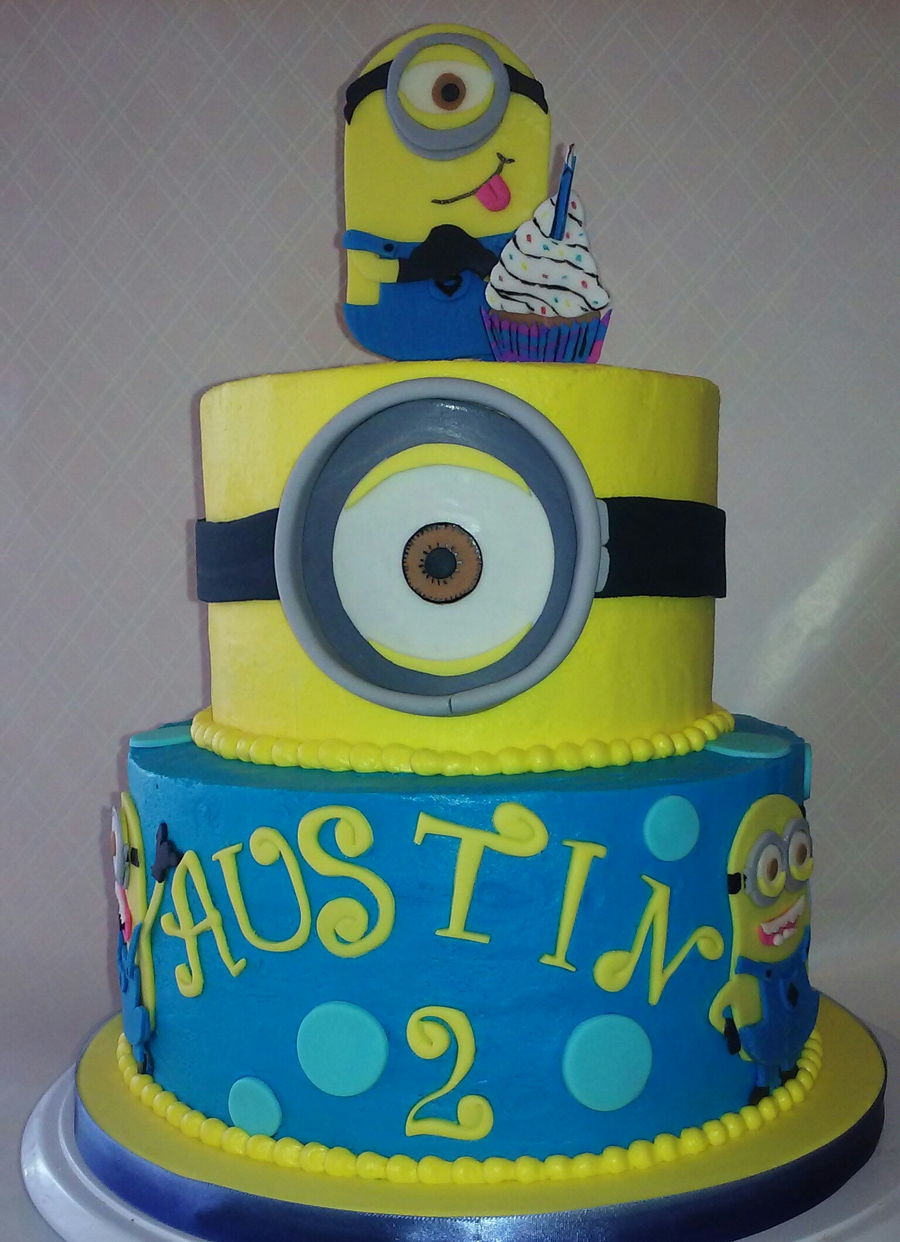 Easy Minion Cake Images : Simple Minion Cake - CakeCentral.com