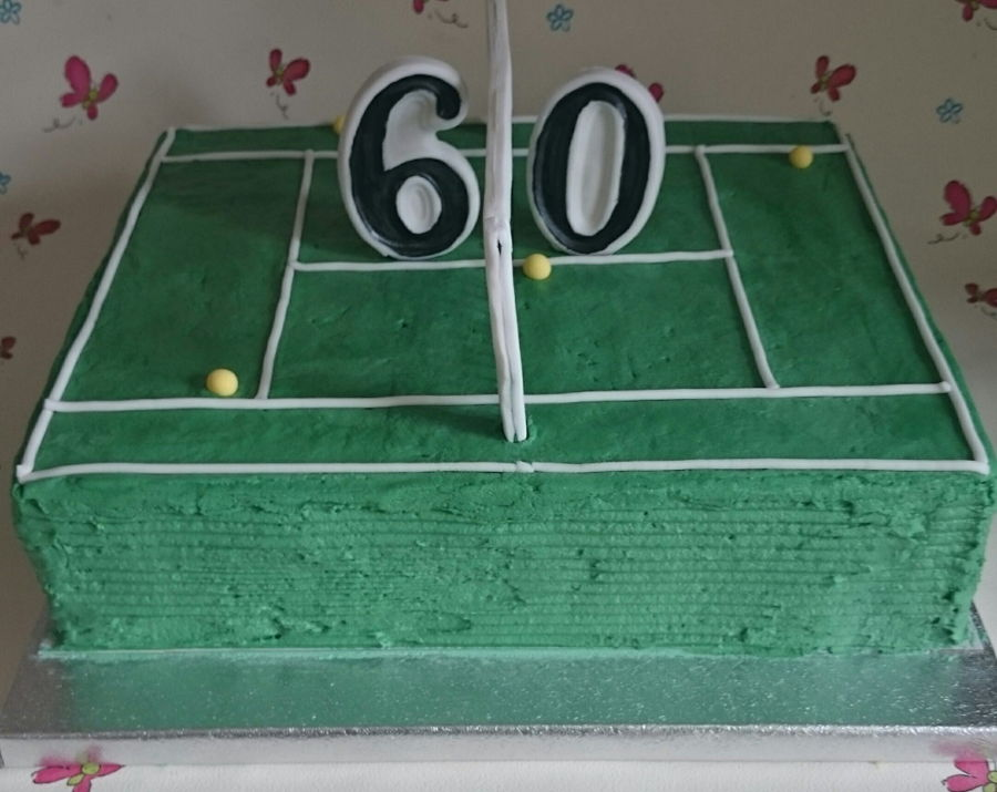 Tremendous Tennis Themed Birthday Cake Cakecentral Com Funny Birthday Cards Online Alyptdamsfinfo