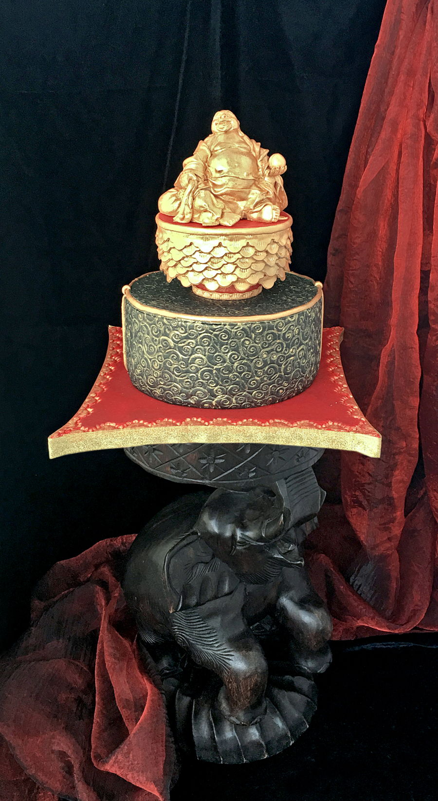 The Laughing Buddha Or Hotei Cake Cakecentral Com