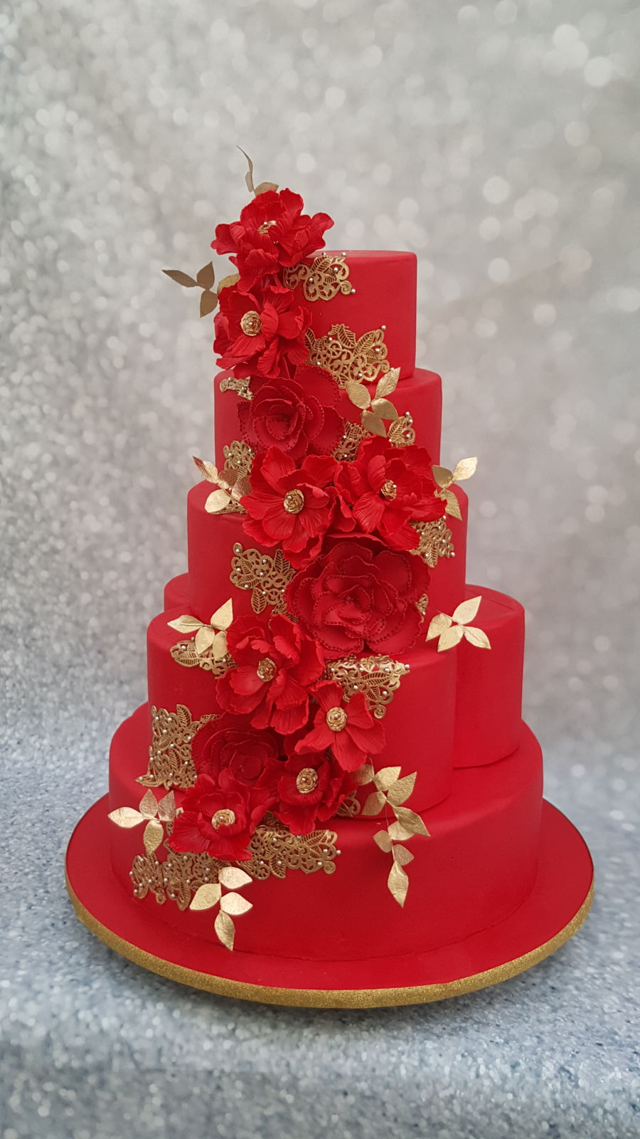 The Red Wedding Cake Cakecentral Com