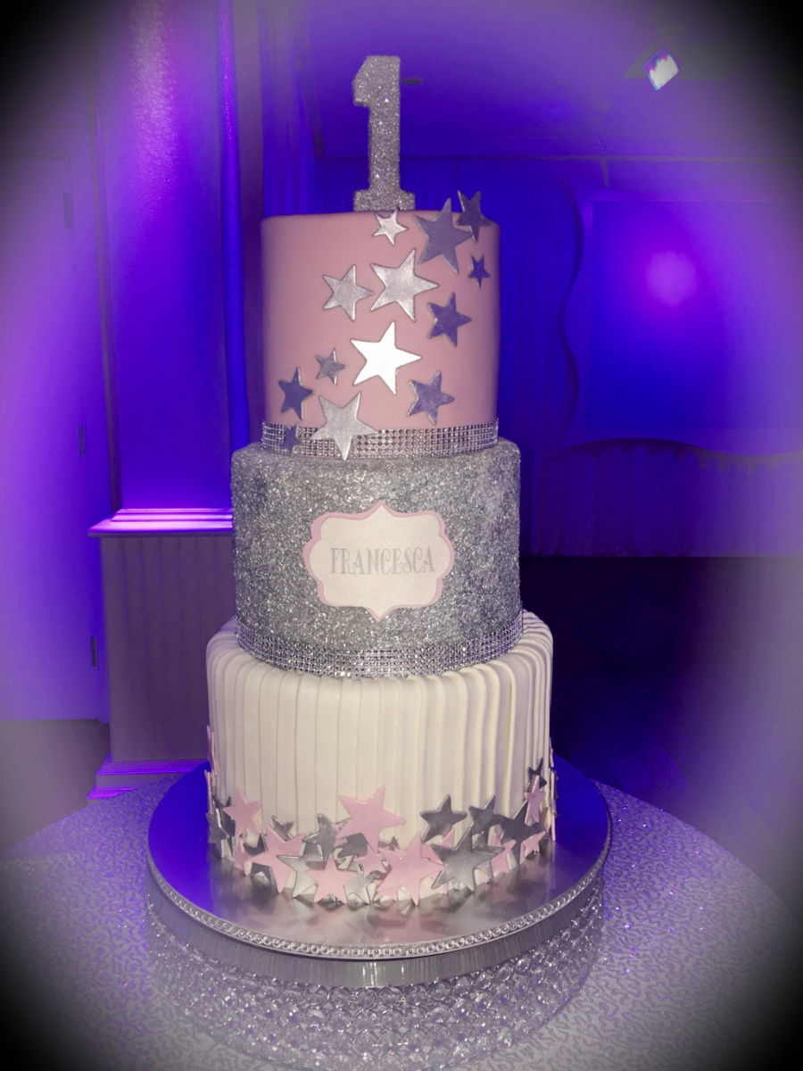 Twinkle twinkle little star 1st birthday cakecentral com