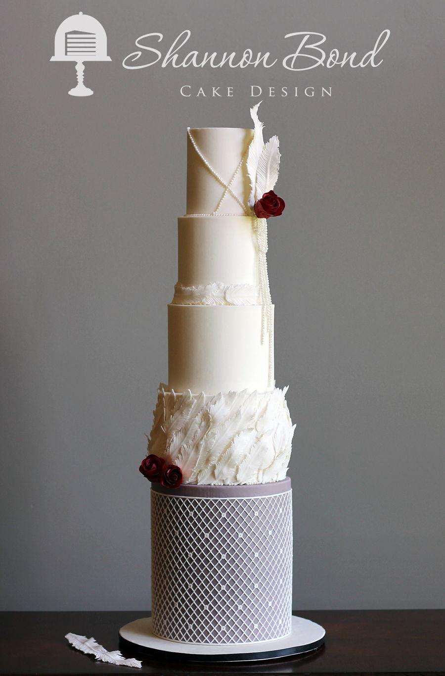 Wedding Cakes With Pleats