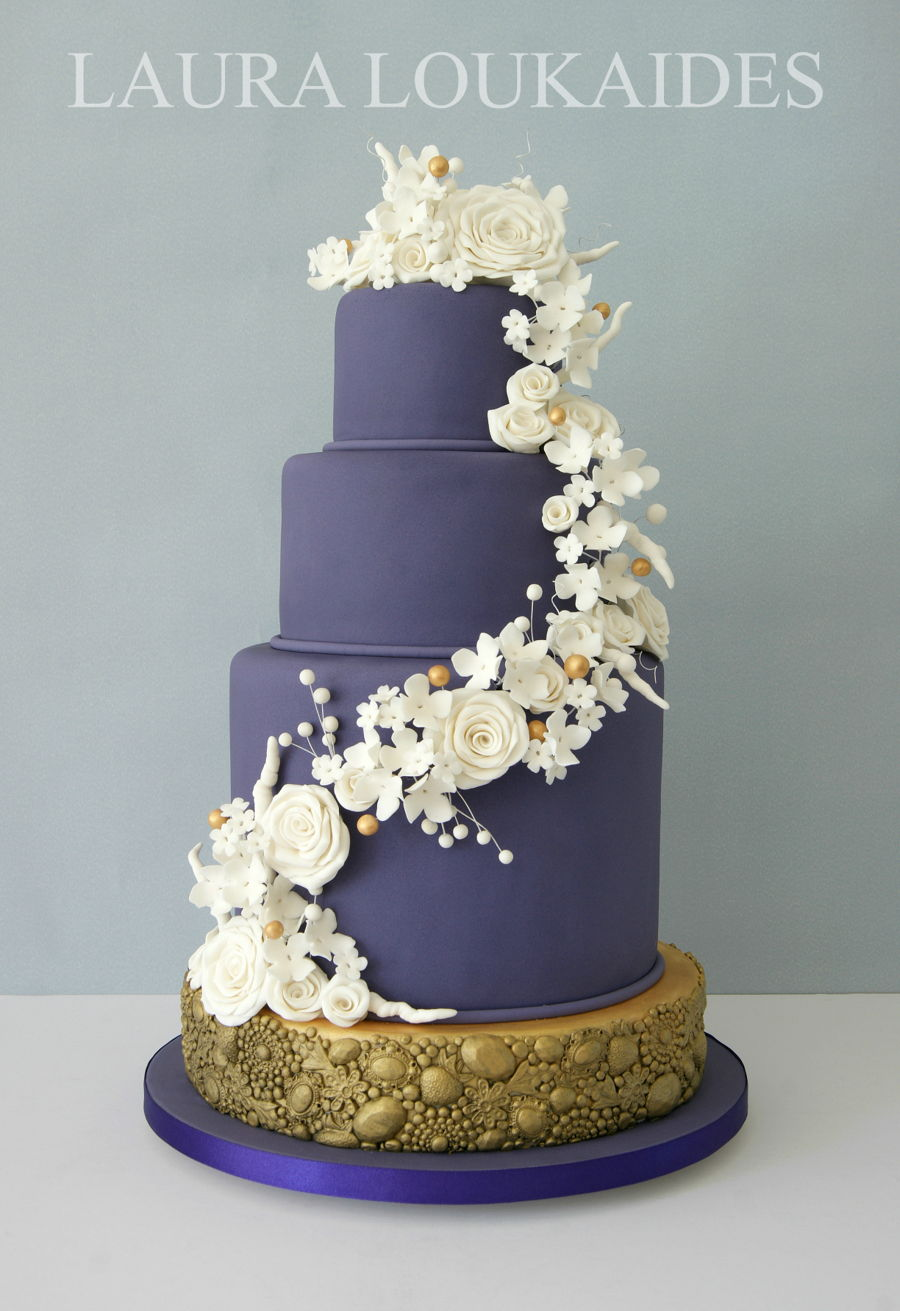 Violet Wedding Cake Cakecentral Com