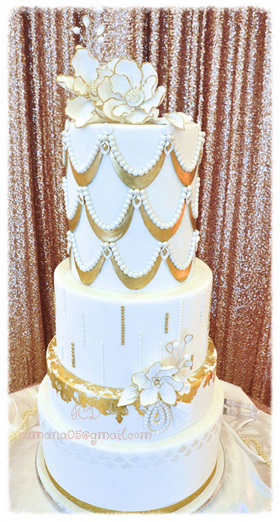 white and gold wedding cake images white and gold wedding cake cakecentral 27206