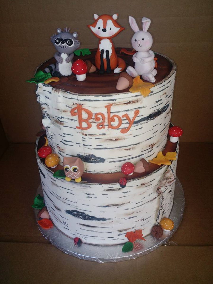 woodland creatures baby shower on cake central