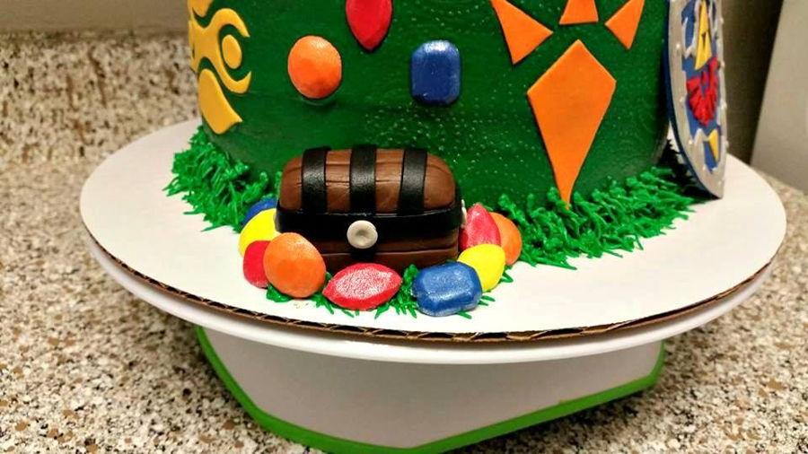 Zelda Cake Decor : Zelda Birthday Cake - CakeCentral.com