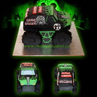 3D Buttercream Grave Digger Monster Truck Birthday Cake (All 100% Edible) 3D Buttercream Grave Digger Monster Truck Birthday Cake (ALL 100% Edible)
