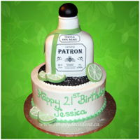 3D Patron Tequila Birthday Cake With Fondant Limes, Sugar Salt (All 100% Cake, 100 % Edible) 3D Patron Tequila Birthday Cake with Edible Image Labels, Fondant Limes, Sugar Salt (ALL 100% Cake, 100 % Edible)
