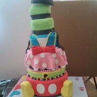 "4 Out Of 6 Tier Mickey Mouse And Friends Themed Birthday Cake 4 out of 6 Tier Mickey Mouse and Friends themed Birthday Cake6"" Top(Donald): Red Velvet Cake8"" Top(Minnie):Lemon Cake9""..."