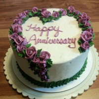 Anniversary Scratch carrot cake with cream cheese icing and decorations
