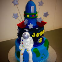 Astronaut Cake Astronaut with Spaceship