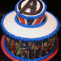 Avengers Birthday Cake Avengers Birthday Cake...I got to use my new edible printer on this one! Love how it turned out!