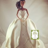 Barbie Bride Doll Cake Barbie doll wedding gown cake.