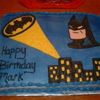 Batman   I made this cake for my little nephews birthday.