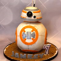 Bb-8 Cake For Jamesy BB-8 cake made for Jamesy who is diagnosed with Duchenne Muscular Dystrophy. Cake was delivered for his birthday which coincided with a...