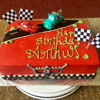 Cars Themed Buttercream Cake All buttercream butterscotch cake