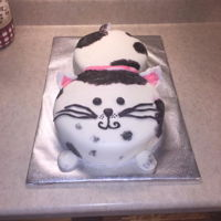 Cat Cake Cat Cake made for my niece. I don't work with fondant at all, so I was pleased that this turned out the way it did. It looked like a...