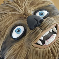 Chewbacca   8 inch round sponge decorated with fondant as Chewbacca.