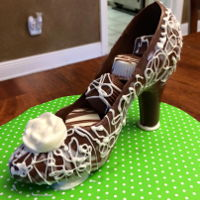 Chocolate Shoe Chocolate High Heel Shoe. First time doing this, I need some practice, but not bad. I've made the candies inside several times.