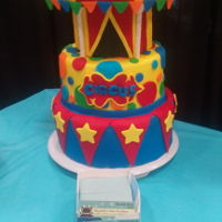 Circus Cake circus dummy cake for vendor event