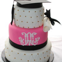 College Graduation Cake celebrating a Marist College Grad with this fondant decorated cake, cap and diploma included :)