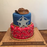 Cowboy Birthday Cake Cowboy birthday cake for a special friend :)