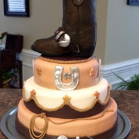 Cowgirl Cake The boot is molded chocolate with hand painted details