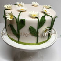 Daisies Blooming Away   Made this cake for a friend who loves daisies.