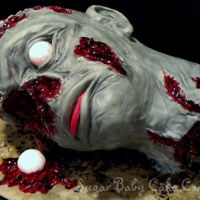 Decapitated Zombie Head Meet Bob...Bob had a makeover! lol This was made with Styrofoam cause the last two cakes I made for the birthday boy he wouldn't cut...