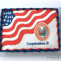 Eagle Scout For an Eagle Scout ceremony. Buttercream design with fondant Eagle Scout plaque.