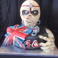Eddie, Iron Maiden Metal cake for the fan.