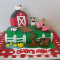 Farm Cake For my son's 2nd birthday