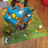Finding Nemo Nemo Cake for my Grandsons 3rd birthday...Sponge with sugarpaste characters