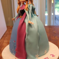 Frozen Elsa And Anna Birthday Cake This is the cake I made my granddaughter's birthday.