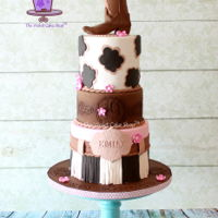 Girly Western Cowgirl Made this in March 2015 for Emily's 19th birthday. The boot topper is made from fondant/gumpaste mix. I have a tutorial for it on my...