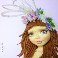 Grace - Sugar Dolls Around The World Collaboration My doll represents England, I wanted to make a girl going to the famous Ascot horse race where the ladies wear elegant dresses and...