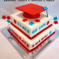 Graduation Graduation cake, bc frosting with fondant accents