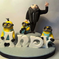 Gru And His Minions  Gru and a few of his enduring Minions. All made from modelling paste. Thank you to Zoe's Fancy Cakes for the Gru tutorial. The...