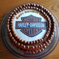 Harley Davidson Birthday Cakes  Chocolate cake/chocolate frosting with edible image. Coconut cake filled with vanilla pastry cream. Coconut cupcakes with coconut frosting...