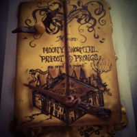 Harry Potter Book   Harry Potter map. Fondant covered and painted them airbrushed