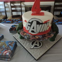 Heros Cake   Hulk hands were sculted from chocolate,