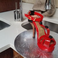 High Heel Cake Made for a friends 45th birthday