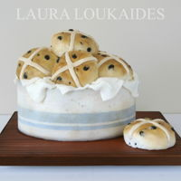 Hot Cross Buns Cake Made for the Sweet Fairy Tales Cake Collaboration