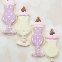 Ice Cream Sundae Cookies Gi back in time with an elegant retro ice cream sundae cookie