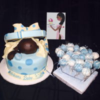 It's A Boy Baby shower cake and CakePops