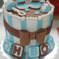 Its A Boy! Baby Shower Cake This is a cake I made for a competition and it won 3rd place in the occasion category! Made with fondant and gum paste.