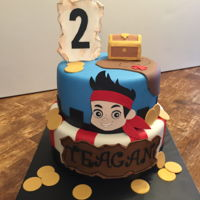 Jake And The Neverland Pirate Cake Jake and the Neverland Pirate Cake I made for a friend's grandson