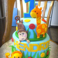 Jungle Animal Cake Jungle Animal Cake