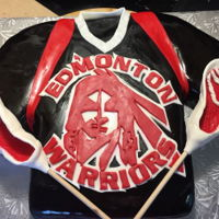 Lacrosse Theme Cake Made this for my son's Edmonton Warriors Lacrosse